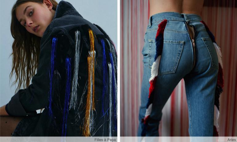 borlas denim textil