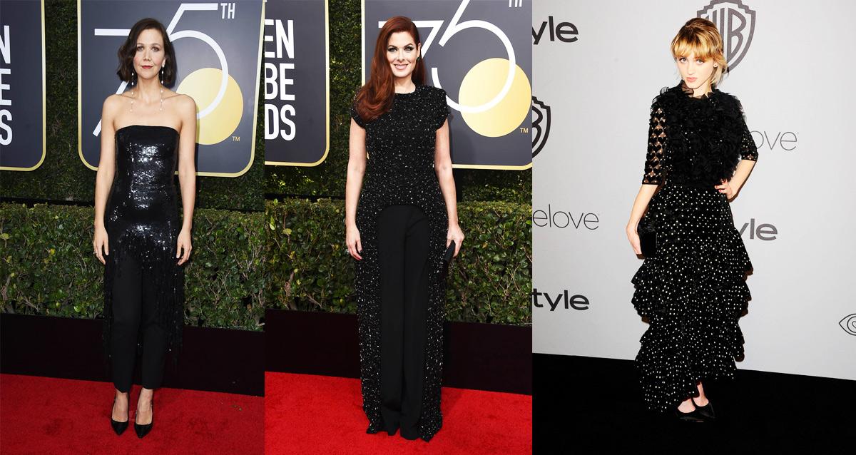 moda negro lentejuelas pedreria - Moda en Negro: lo destacado de los Globo de Oro 2018