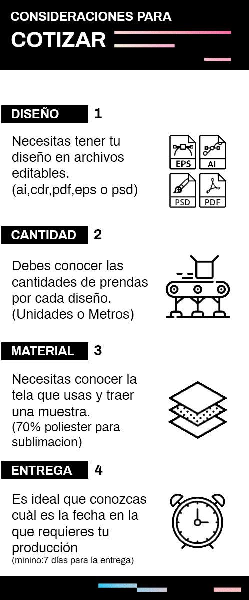 COTIZAR - Sublimación Textil